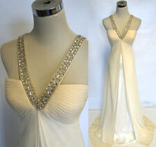 NWT FAVIANA COUTURE $490 CREAM Prom Party Ball Gown 4