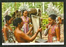 Borneo Gawai Antu Girl Costume Mirror Hinde Malaysia 70s