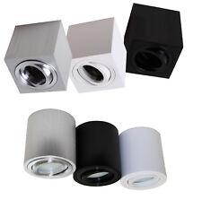 Aufbaurahmen Alu Aufbaustrahler Lampe GU10 Fassung für LED Halogen Spot 1120-25