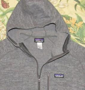 PATAGONIA Grey Hooded Full Zip Better Sweater Fleece Jacket XL