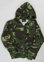 Boys Childrens Kids Camo Hoodie Camouflage Zip Up Jacket Green Pockets Hooded