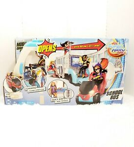 """DC Super Hero Girls Action Doll Feature Bus 23"""" Long 12"""" Dolls NEW"""