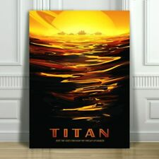 "COOL NASA TRAVEL CANVAS ART PRINT POSTER - Titan - Space Travel - 36x24"""