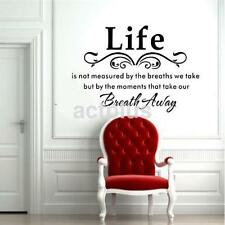 Home Decor Life Is Not Measured Removable Wall Decal Sticker Quotes Vinyl Art US