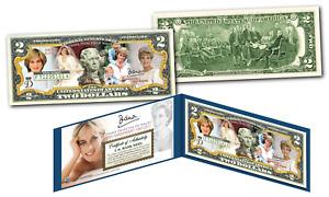 PRINCESS DIANA * 20th Anniversary * OFFICIAL Genuine Legal Tender U.S. $2 Bill