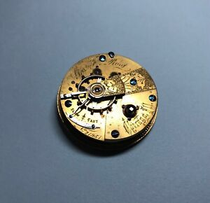 Vintage 1870's Cornell Watch Co. Pocket Watch Movement Chicago 15j 18s *REPAIR*
