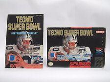 TECMO SUPER BOWL Box & Manual only SNES SUPER NINTENDO