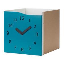 IKEA Insert With Door Kallax Turquoise/light Green/clock Decoration