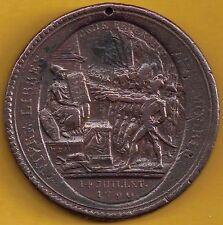 France 1792 Bronze 5 sols token Revolution Type II Soldiers facing Liberty