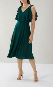 Coast - Imana Midi Dress - (Forest)  Size 14 or Size 16 (Brand New With Tag)