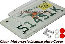RED MOTORCYCLE REFLECTOR/REFLECTIVE FASTENER CAP SCREW LICENSE PLATE CLEAR COVER