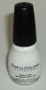 SINFUL COLORS Limited Time DEMI MATTE Nail Polish Color WHITEBOARD 1559
