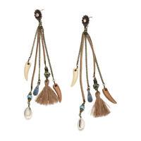 Womens Fashion Bohemian Earrings Vintage Boho Long Tassel Fringe Dangle Earrings