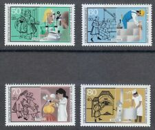 Germany 1986 MNH Mi 1274-1277 Sc B643-B646 Youth in Industry.Medicine.Parfume **