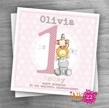Personalised Handmade Card Baby 1st First Birthday Daughter Granddaughter Cute