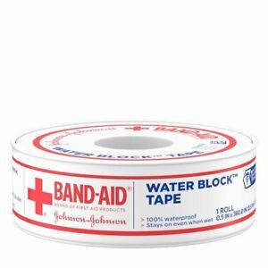 Johnson & Johnson Band-Aid Heavy Duty Waterproof Tape .5 Inch (Pack of 5)