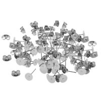 60 Pairs/Lot Silver Stainless Steel Hypoallergenic Stud Stoppers Pin Post