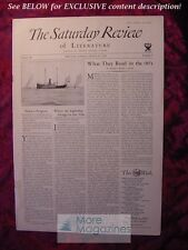 SATURDAY REVIEW August 25 1934 George Libaire David W. Bone William Harlan Hale