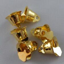 36845 Antique Gold Iron Tiny Bells Shape Charms Finding Crafts Pendants 75pcs