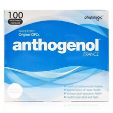 BEST PRICE! 3 X ANTHOGENOL 100 CAPSULES Free Shipping EXP2022