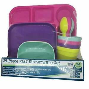 New 24pc Children's Dinnerware Set