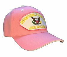 """Dysfunctional Veteran """"Wife"""" Hat Leave Me Alone Ball Cap Hat Pink 'Wife"""" Version"""