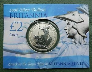 1 ounce Great Britain Britannia £2 coin in pack of issue 2006