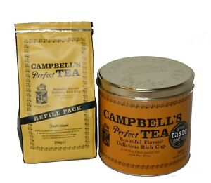 Campbell's Perfect Tea 500g TIN & 250g Refill Bag(300+cups)- Sold by DSDelta Ltd