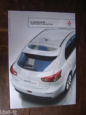 Mitsubishi Lancer sporback Prospectus/Brochure/DEPLIANT, d, 10.2010