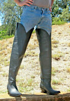 Made to order mencowboy boots thigh high 32¨ tall or any height you want them .