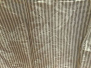 Target Casual Home King Bed Skirt, Brown/Cream Ticking Stripe,14.5 Drop,NWOT