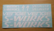 Specialized S-Works/Venge Large Set Decals/Stickers (Gloss White)