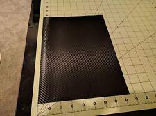 """3M Black Carbon Fiber CF Vinyl Wrap Sample piece 8"""" x 11""""inches  ( 20cm x 28cm)"""