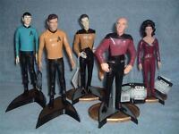 STAR TREK LOT Kirk Spock Picard Data Counselor Troi Hamilton Enesco 1992 TOS TNG