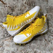 NEW Men's Nike Alpha Menace Pro Varsity Mid Football Cleats Size 10 Maize/Yellow