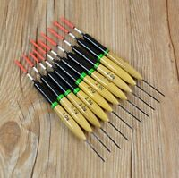 10Pcs 2g Fishing Floats Bobbers Paulownia Wood Fishing Tackle Tools Durable