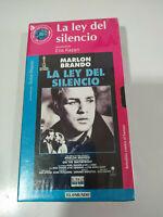 La Ley del Silencio Marlon Brando Elia Kazan - VHS Cinta Tape Español Nueva - 2T
