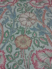 WILLIAM MORRIS CURTAIN FABRIC DESIGN   PINK AND ROSE   2.5 METRES DK3567