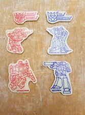 Original Vintage Década de 1980 Transformers G1 Brillan En La Oscuridad Pared Placas/Insignias X 6