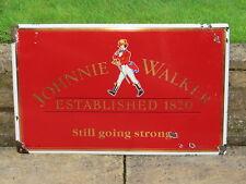 "Original 1994 HEAVY ENAMEL ""JOHNNIE WALKER"" WHISKY SIGN  Whiskey"