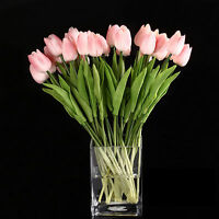 10pcs Tulip Flower Latex for Wedding Bouquet Decor (pink tulip) B4M7