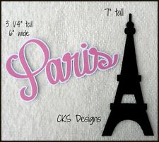 Die Cut Paris Title Eiffel Tower Tour Vacation Scrapbook Page Paper Piecing CKS