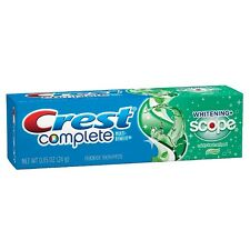 Crest Complete Toothpaste, Whitening + Scope, Minty Fresh 0.85 oz