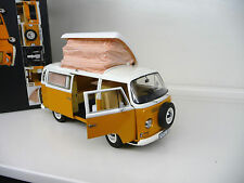1:18 Schuco VW Volkswagen T2 Camper Bus  yellow / white  NEW FREE SHIPPING