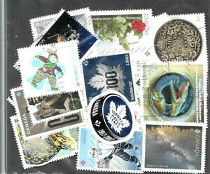 50 used commerative stamps from Canada no 52