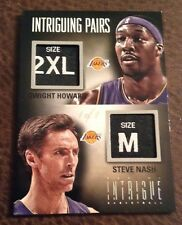2012-13 PANINI INTRIGUE INTRIGUING PAIRS LAUNDRY TAGS STEVE NASH /HOWARD 1/1 Wow