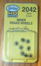 Kadee #2042 Miner Type Brake Wheels pkg(8) -- Black