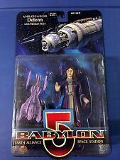 "1997 Babylon 5 AMBASSADOR DELENN Premiere Toys 6"" Figure (Purple Gown) MOC"