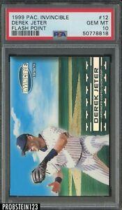 1999 Pacific Invincible Flash Point #12 Derek Jeter Yankees HOF PSA 10 GEM MINT