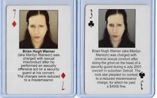 BOTH STARZ BEHIND BARZ ~ MARILYN MANSON PLAYING CARDS LOT ~ MUG SHOT ~ DOPE SHOW